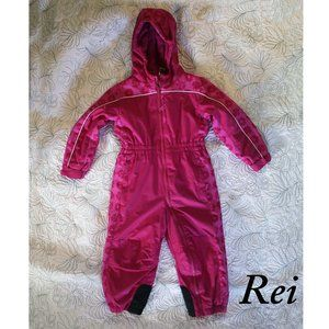 Rei Snuggly Hooded Pink Mountain Snow Suit 3T